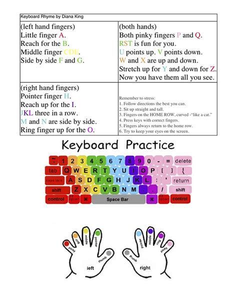 keyboard typing tutorial pdf 5th grade keyboarding review
