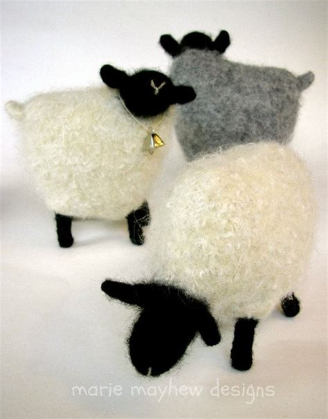 felt lamb pattern pattern booklet plus a knit felt wool sheep pattern and
