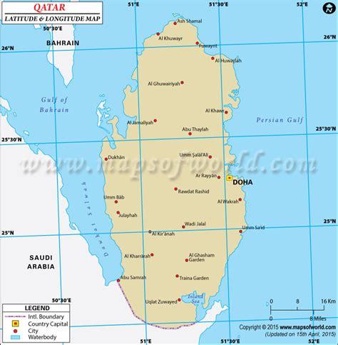 middle east map lat qatar latitude and longitude map