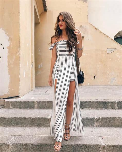 Slit Stripe Mini Dress dress maxi dress dress stripes striped