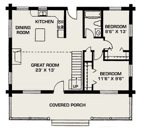 small log home floorp plan back by popular demand