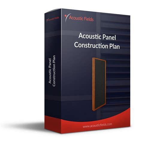 diy acoustic treatment build plans package