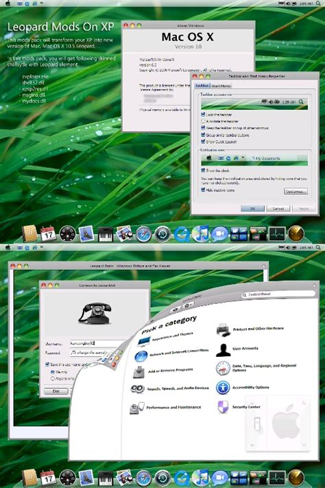 xp tutorial os x how to convert your windows xp to mac os x leopard
