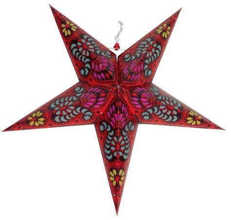 pattern paper lanterns paper star lantern 24 quot red bollywood pattern