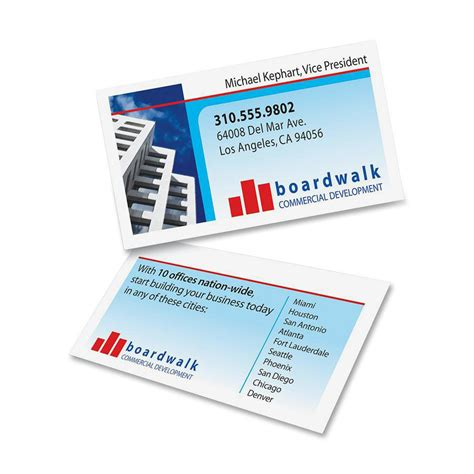 5882 Laser Clean Edge Business Card Template by Avery Clean Edge Business Card Ld Products