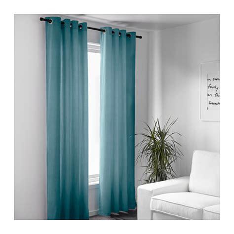 Turquoise Drapes Curtains Sanela Curtains 1 Pair Light Turquoise 140x250 Cm Ikea