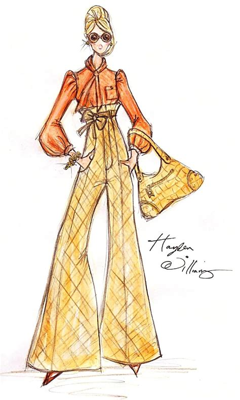 Fashion Sketches 70s by Hayden Williams Fashion Illustrations Hayden Williams For