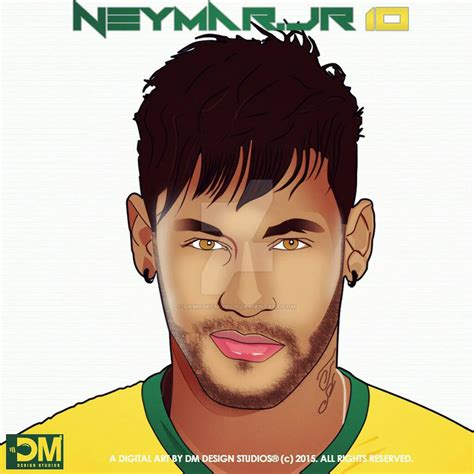wallpaper neymar cartoon dope digital art cartoon of neymar jr by damoski movich