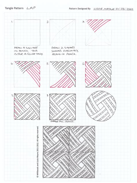 zentangle pattern guide tangle patterns lizzie mayne