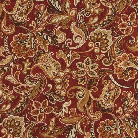 red floral upholstery fabric red orange and green abstract floral outdoor upholstery