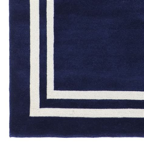 navy border rug decorator border rug royal navy pbteen