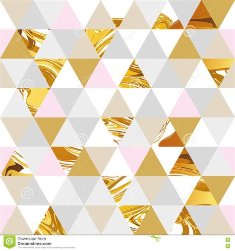 gold pattern card stock geometric marble seamless pattern stock vector