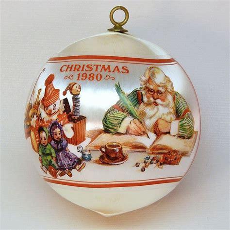 hallmark ornaments 1980 vtg hallmark santa s workshop ornament satin 1980 qx2234
