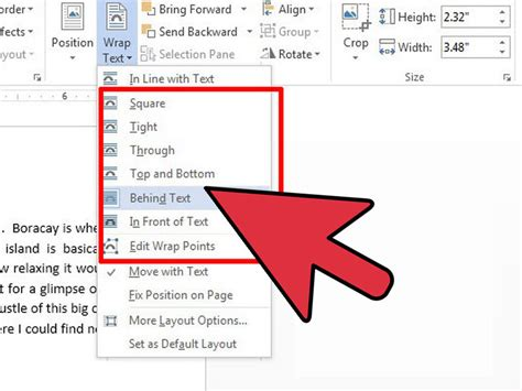 how to wrap text in word 11 steps with pictures wikihow