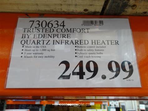 trusted comfort edenpure trusted comfort quartz infrared heater