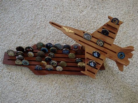 Navy F 18 And Aircraft Carrier Challenge Coin Holder By