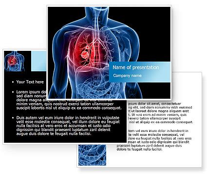 powerpoint themes lungs lung cancer powerpoint template poweredtemplate com
