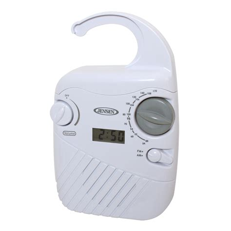 shower radio shower companion am fm stereo with aluminum