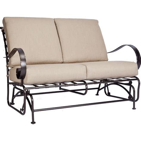 loveseat gliders classico w love seat glider hauser s patio