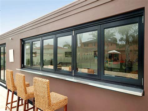 Outdoors Kitchens Designs aluminium bi fold windows airlite sydney