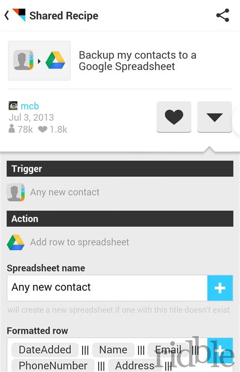 ifttt android ifttt android recensione if this then that app ridble