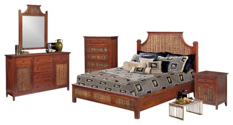 tropical bedroom furniture sets fiji tropical rattan and wicker 5 piece bedroom set