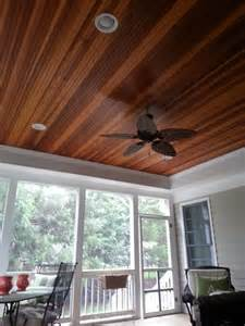 Beadboard Patio Ceiling by Great Screened In Porch With A Tray Ceiling And Redwood