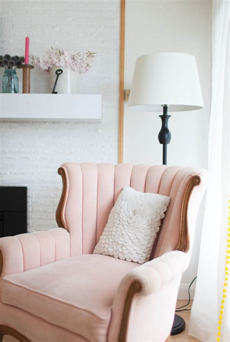 light pink chair my home on apartment therapy at home in