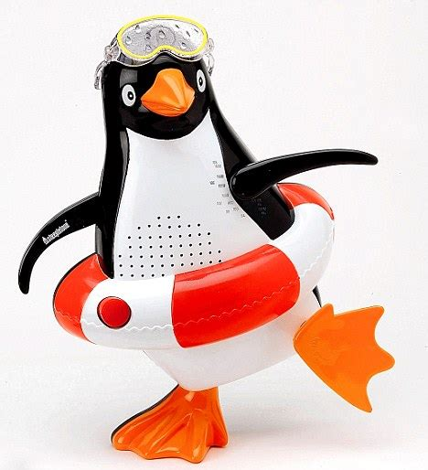 Penguin Shower Radio For Linux Users by Shower Radios Voted Worst Household Gadget Daily Mail