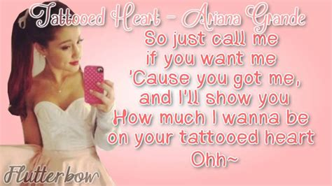 ariana grande tattooed heart live grande tattooed album version lyrics