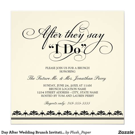 day after wedding brunch invitation wedding vows brunch brunch invitations