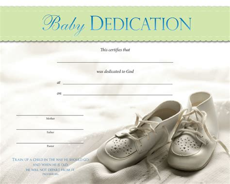 dedication certificate template baby dedication certificates baby dedication certificate