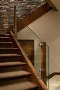 glass banister staircase glass stair railing staircase with glass balustrade