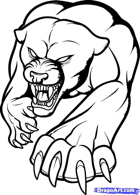 dragoart tattoo how to draw a panther panther step by step