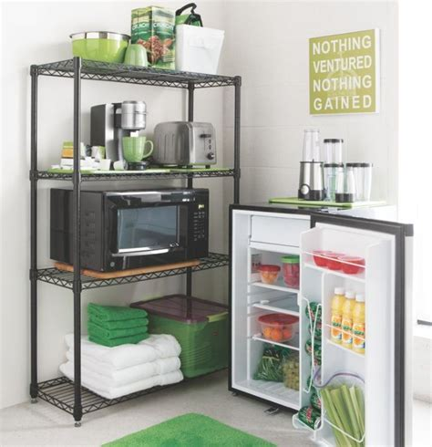 Organize your dorm room kitchen area with essential items