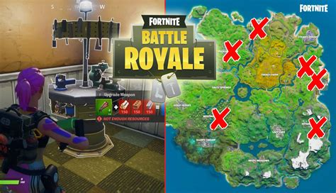 fortnite weapon upgrade benches locations game life