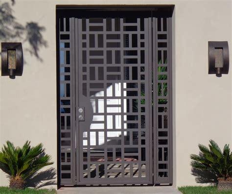 Metal Gate Door contemporary metal gate panels steel wrought iron custom designer garden entry ebay