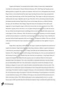 Jean Piaget Essay by Piaget Conservation Experiment Term Paper