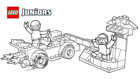 lego junior coloring pages lego 174 juniors race car pit stop coloring page coloring