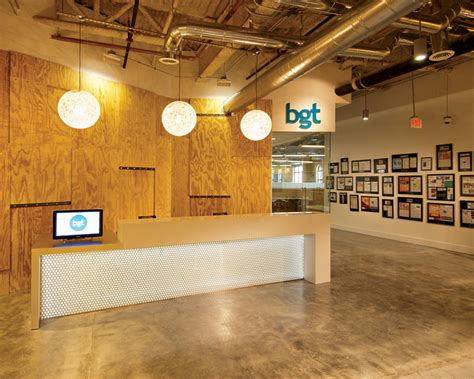 reception desk miami add inc miami completes edgy new space for bgt partners