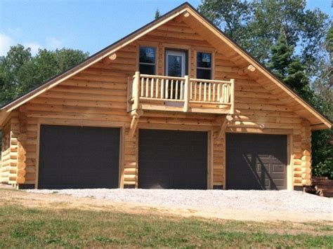Rambler Style Home by Log Garage With Apartment Plans Log Cabin Garage Kits