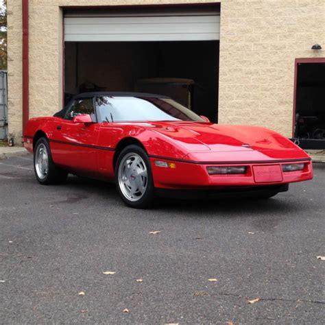 automobile air conditioning service 1989 chevrolet corvette electronic valve timing 1989 corvette convertible red w black top original 24k mile car