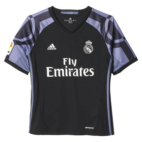 Jersey Real Madrid 3rd adidas real madrid 3rd junior sleeve jersey 2016
