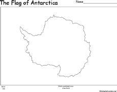 Antarctica Flag Coloring Page antarctica coloring page