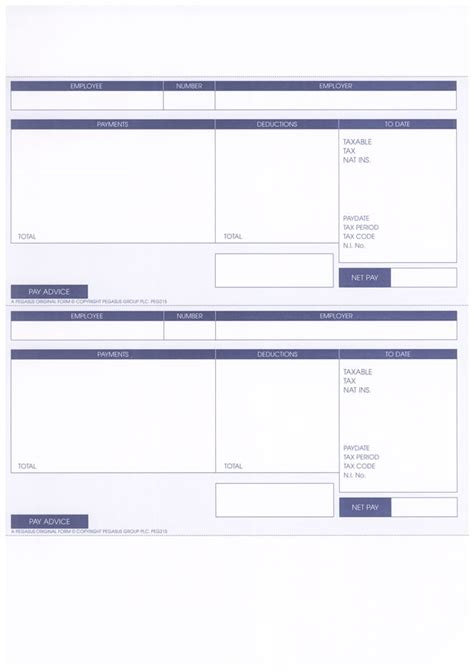 blank payslip template payslip template pegasus payslips shop payslips direct