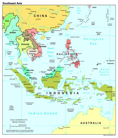 south asia map countries and capitals large scale political map of southeast asia with capitals