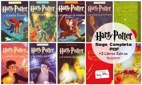 libro harry potter spanish descarga colecci 243 n completa de harry potter en espa 241 ol y en formato pdf bono extra de 3 libros