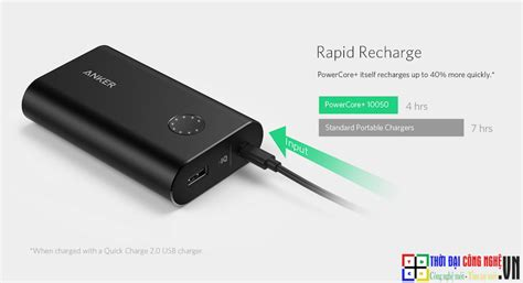 Anker Powercore 10050 Mah With Charge 30 Power Bank Silver pin dự ph 242 ng anker powercore charge 2 0 10050 mah