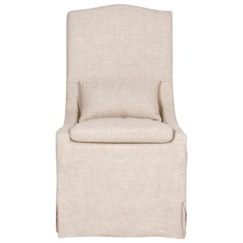 linen slipcovered dining chairs set of two cora linen dining chairs shop dining chairs