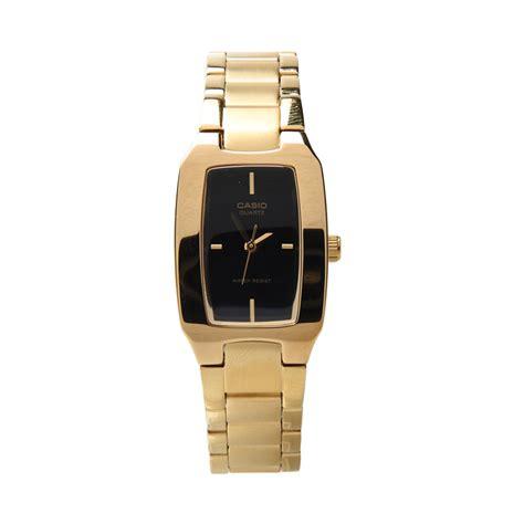 Casio La201w1b Jam Tangan Wanita jual casio ltp 1165n 1crdf jam tangan wanita black gold